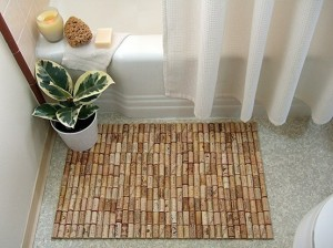 Коврик для ванной комнаты из пробок