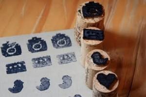 Штампы из пробок cork stamps