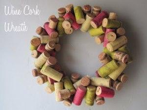Венок из пробок winecork wreath