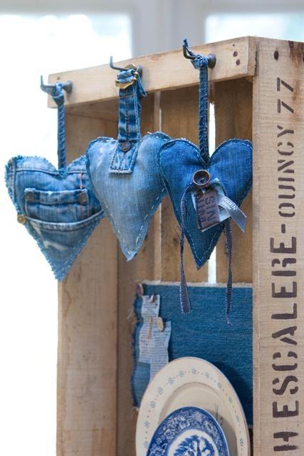 Сердечки из джинсов