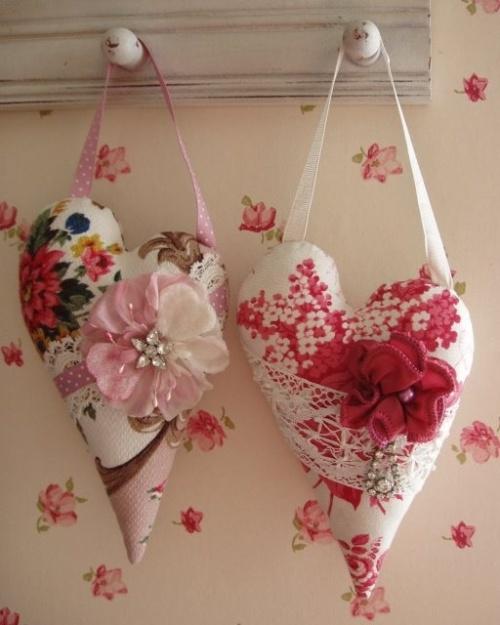 Сердечки с цветами