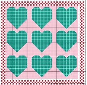 Сердечки в рамке. Схема 6.