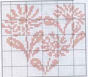 """Вышитые крестиком """"валентинки"""". Схема 4."""