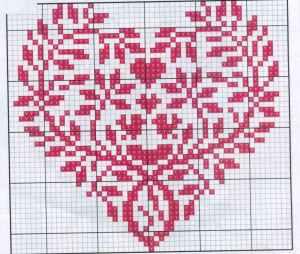 """Вышитые крестиком """"валентинки"""". Схема 2."""