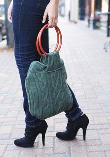 сумка из старого свитера