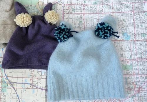 шапочки из старого свитера