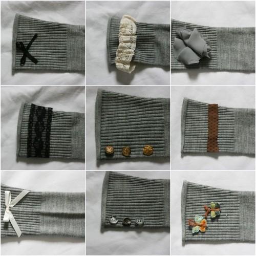 Гетры из рукавов старого свитера