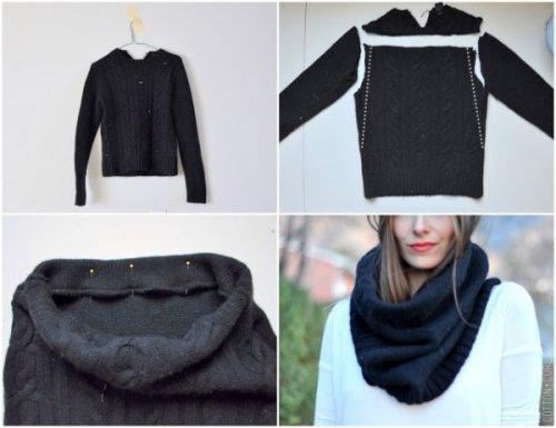шарф из старого свитера