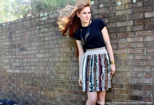 юбка из старого свитера