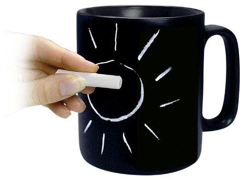Кружка, на которой можно рисовать мелками (илл.)