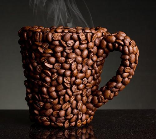 Кружка из кофейных зёрен (илл.)