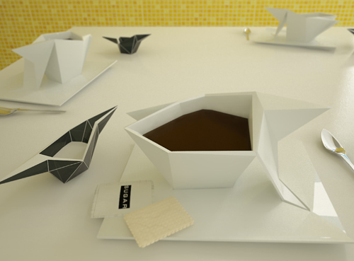 Кружка - оригами (илл.)