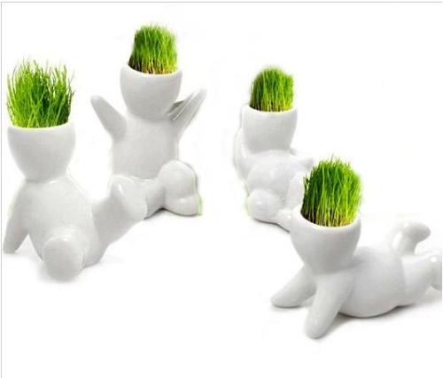 Горшки для растений - человечки (илл.)