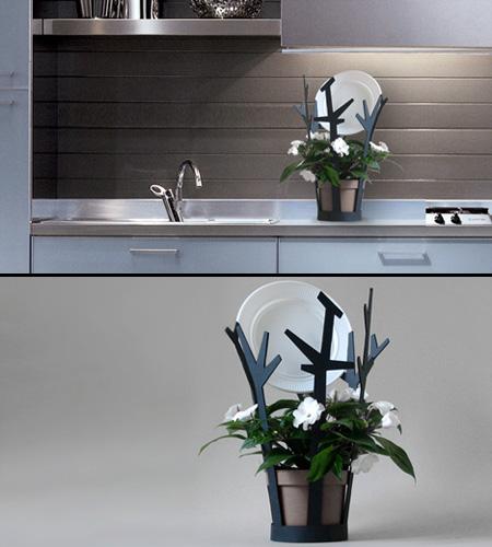 Цветочный горшок на кухню (илл.)