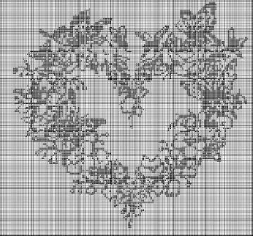 Сердечки вышитые крестом