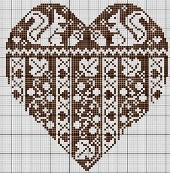 вышивка крестом на день Валентина